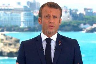 """Macron llamó a una """"movilización de todas las potencias"""" contra los incendios en el Amazonas"""