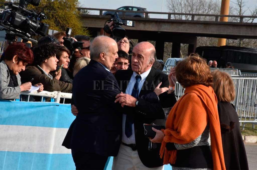 Lombardi en la previa del acto <strong>Foto:</strong> Guillermo Di Salvatore