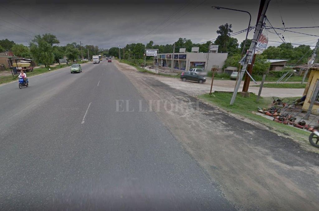 La zona del accidente fatal <strong>Foto:</strong> Google Maps