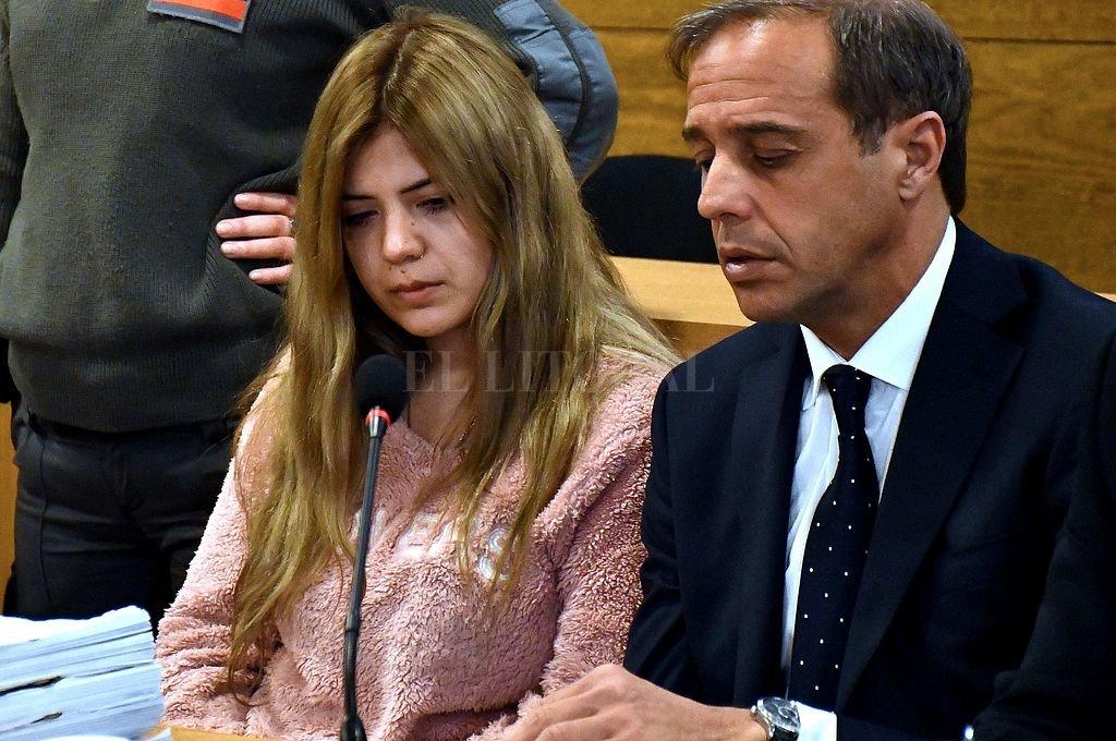 Brenda Micaela Barattini, de 28 años, durante la primera audiencia del juicio. <strong>Foto:</strong> Telam