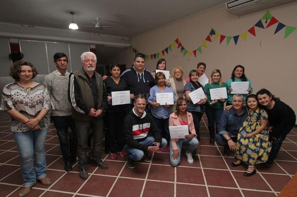 La última entrega de diplomas tuvo lugar hace pocos días en dependencias del Hospital Sayago. <strong>Foto:</strong> Pablo Aguirre