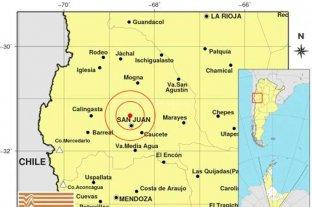 Se registró un sismo cerca de la ciudad de San Juan