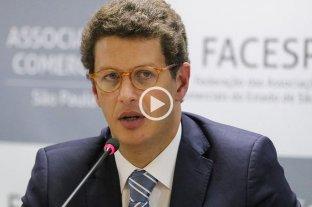 Ministro brasileño de Medio Ambiente, hospitalizado con estrés en medio de la crisis de la Amazonia