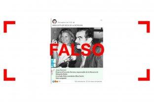 Es falsa la foto de Carrió con el ex gobernador de facto de Chaco