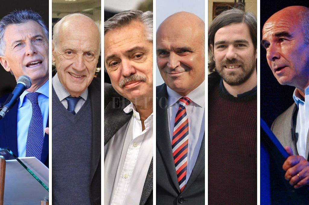 Macri, Lavagna, Fernández, Espert, Del Caño y Gómez Centurión. Crédito: El Litoral