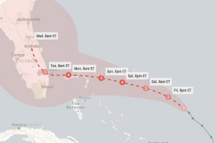 Dorian ya es huracán categoría 3 y avanza hacia Estados Unidos