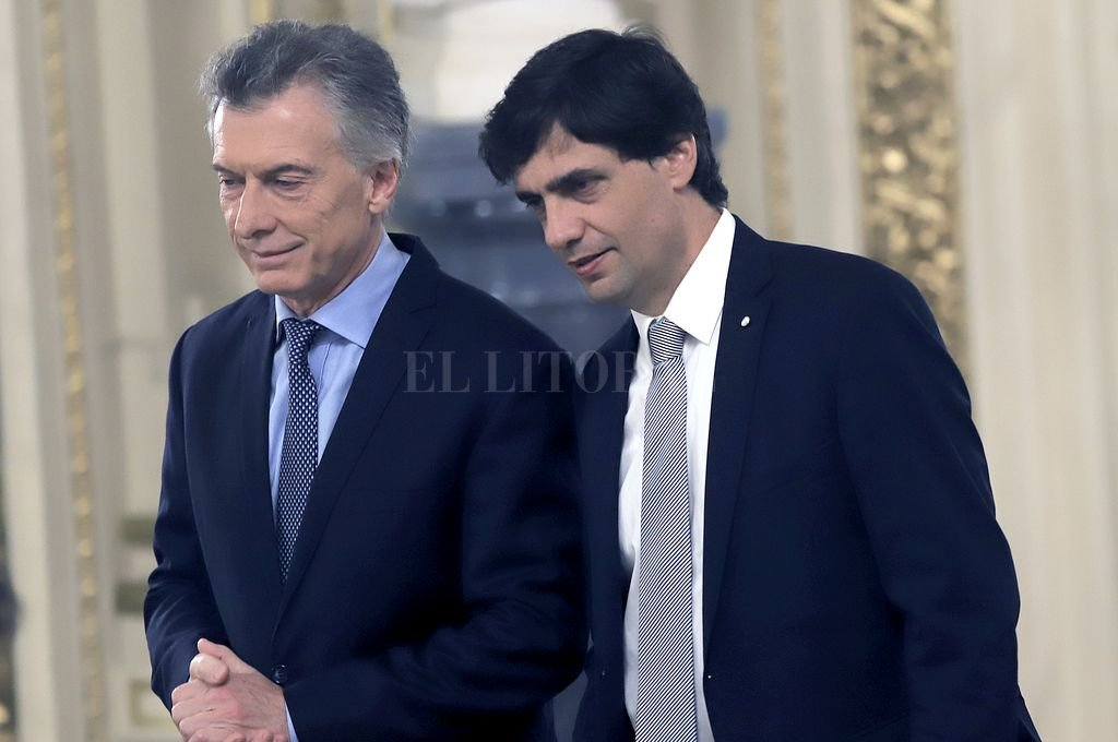 Macri y Lacunza. <strong>Foto:</strong> NA