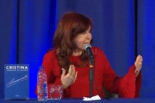 "Cristina Fernández presentó ""Sinceramente"" en La Plata"