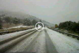 Video: cayó agua nieve en Sierra de la Ventana