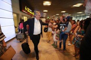Alberto Fernández llegó a Madrid
