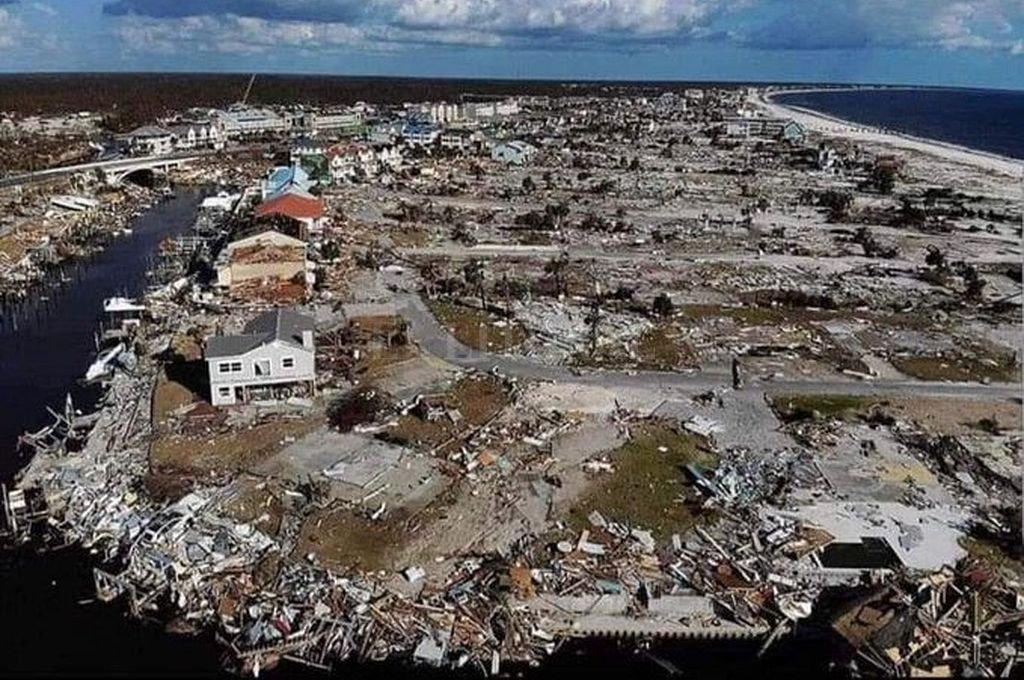 Tierra arrasada en Bahamas tras el paso de Dorian. <strong>Foto:</strong> Captura digital