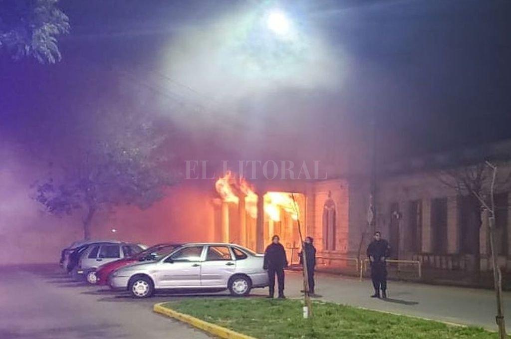 El incendio ocurrió en la madrugada del 31 de julio