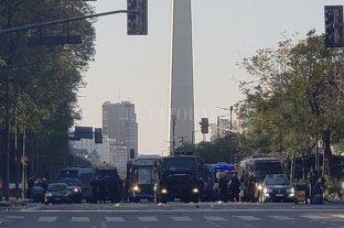 Capital Federal: organizaciones sociales acampan en Corrientes y 9 de Julio
