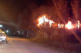 Se incendió un galpón en Recreo Sur