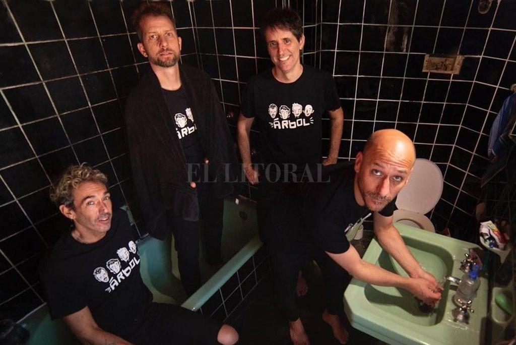 Actualmente, la banda está compuesta por Hernán Bruckner, Martín Millán, Pablo Romero y Sebastián Bianchini, todos miembros originales. Crédito: Gentileza producción