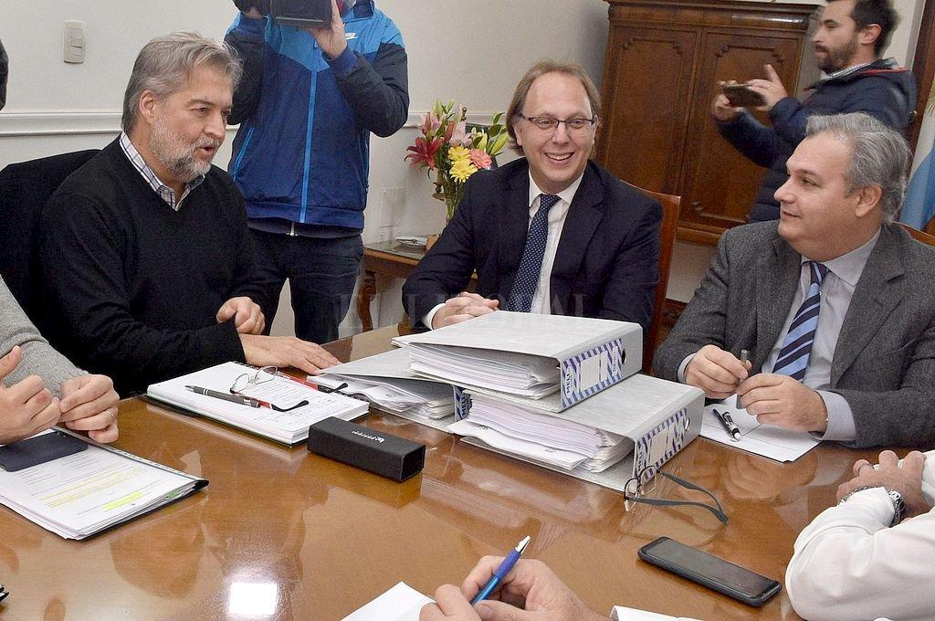 Mirabella, Saglione y Farías. <strong>Foto:</strong> Archivo El Litoral / Guillermo Di Salvatore
