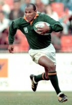 Murió Chester Williams, el único jugador de color de los Springboks campeones de 1995