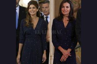 Moda: Juliana Awada y la reina Letizia, con el mismo vestido