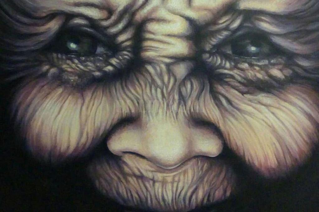 """""""Fugaz"""", pintura/acrílico, obra de Erica Nave <strong>Foto:</strong> Gentileza de la artista"""