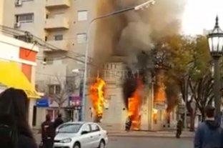 Se incendió un comercio en Rafaela