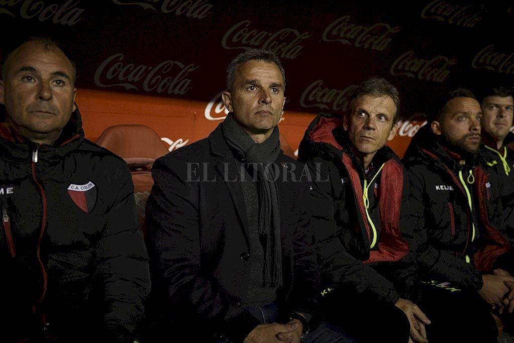 El profesor Diego Busti, a la izquierda de Pablo Lavallén. <strong>Foto:</strong> Guillermo Di Salvatore