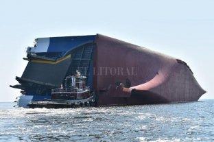 """""""Volcó"""" un buque coreano y hay cuatro desaparecidos"""
