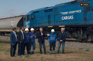 Macri destacó el valor de recuperar el tren de cargas