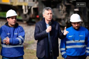 Macri visitó Santa Fe y destacó el valor de recuperar el tren de cargas