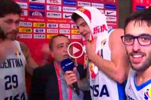 La selección argentina de básquet festejó al ritmo de Los Palmeras