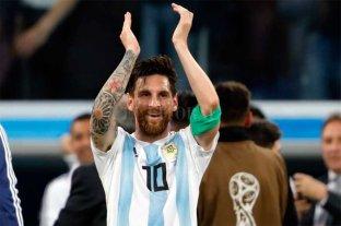 Messi también festejó el triunfo de Argentina ante Francia