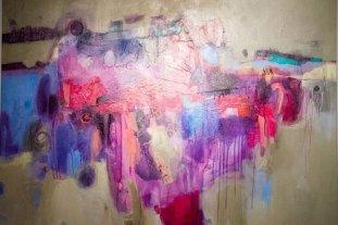 """""""Mundos posibles"""" - Una de las obras que integran la muestra de Liliana Pantanali. -"""
