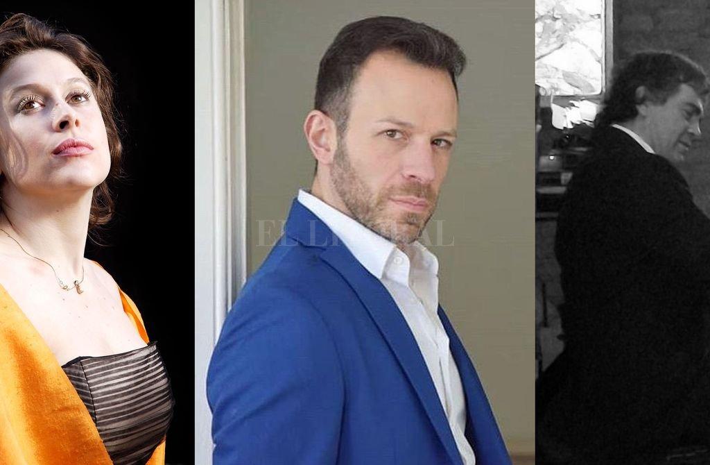 En la gala, la soprano Natalia Raselli, el tenor Santiago Sirur y el pianista Sergio Bungs ofrecerán un variado repertorio. <strong>Foto:</strong> Gentileza producción