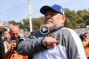 """Maradona: """"A mi equipo lo vi bien, hay que seguir trabajando"""""""