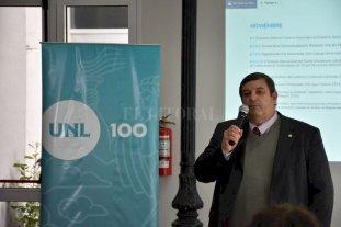La UNL presentó su agenda de actividades con motivo del Centenario - Enrique Mammarella, rector de la UNL -