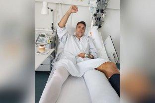 Batistuta fue operado de su tobillo izquierdo