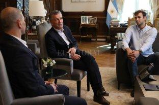 Macri recibió a Sergio Hernández y a uno de los subcampeones del mundo