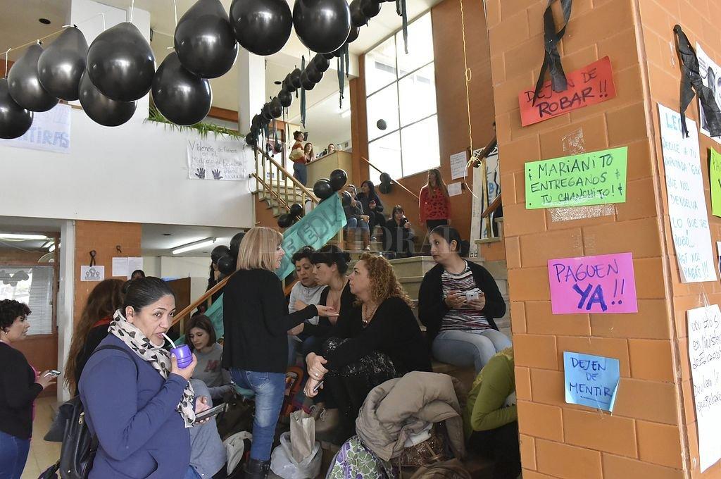 Docentes de paro en Chubut. <strong>Foto:</strong> NA