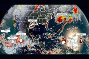 Seis tormentas tropicales rodean a América del Centro y el Norte