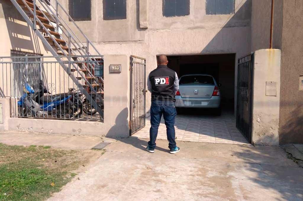 El auto del imputado fue secuestrado de la vivienda de sus padres, en la ciudad de Esperanza. Crédito: El Litoral