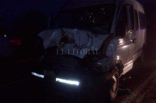 Traffic de la Municipalidad de San Javier chocó contra animales en la Ruta 1