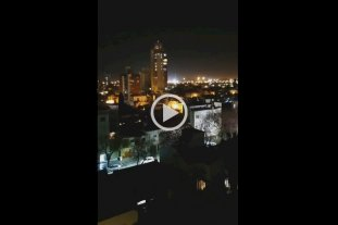 Video: Así se escuchaba la hinchada de Colón desde un edificio