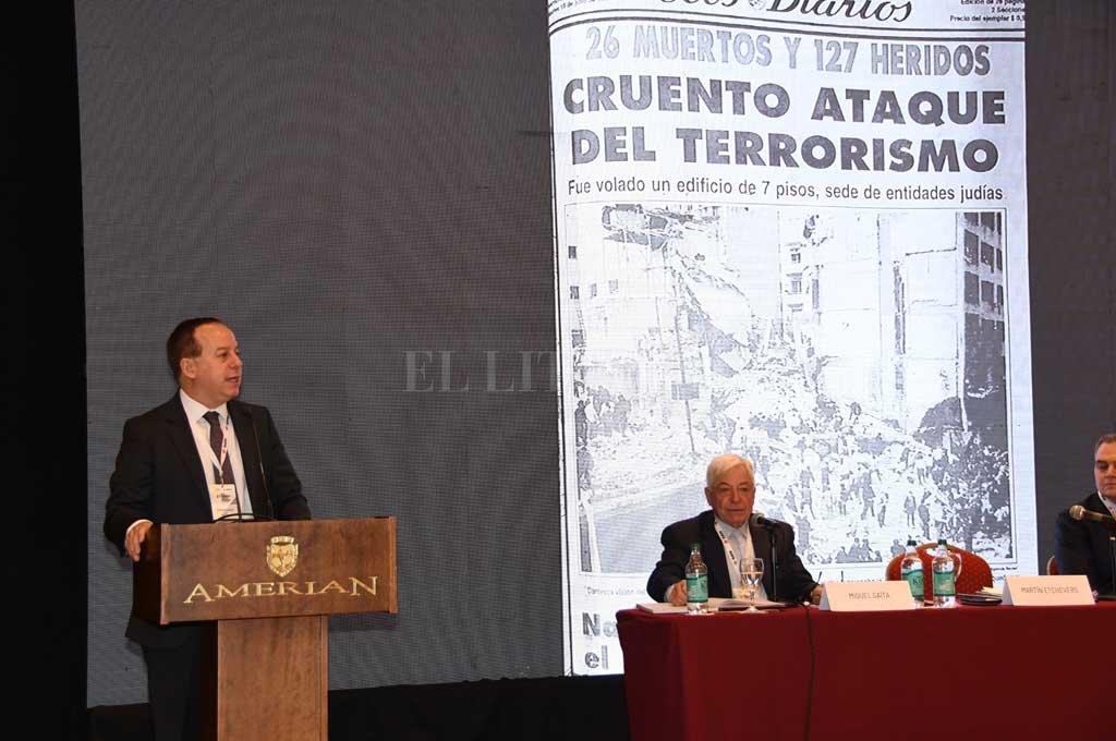 El titular de Adepa durante su presentación <strong>Foto:</strong> Gentileza