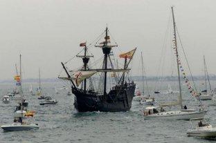 """""""Victoria"""" vuelve a navegar 500 años después del viaje de Elcano y Magallanes"""