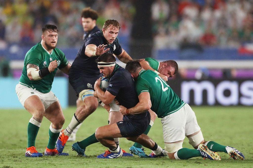 La solidez defensiva, como siempre, fue uno de los puntos altos del rendimiento irlandés ante los escoceses. <strong>Foto:</strong> Gentileza