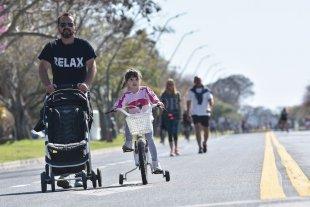 Fotos: Día Mundial Sin Auto en la costanera santafesina -  -