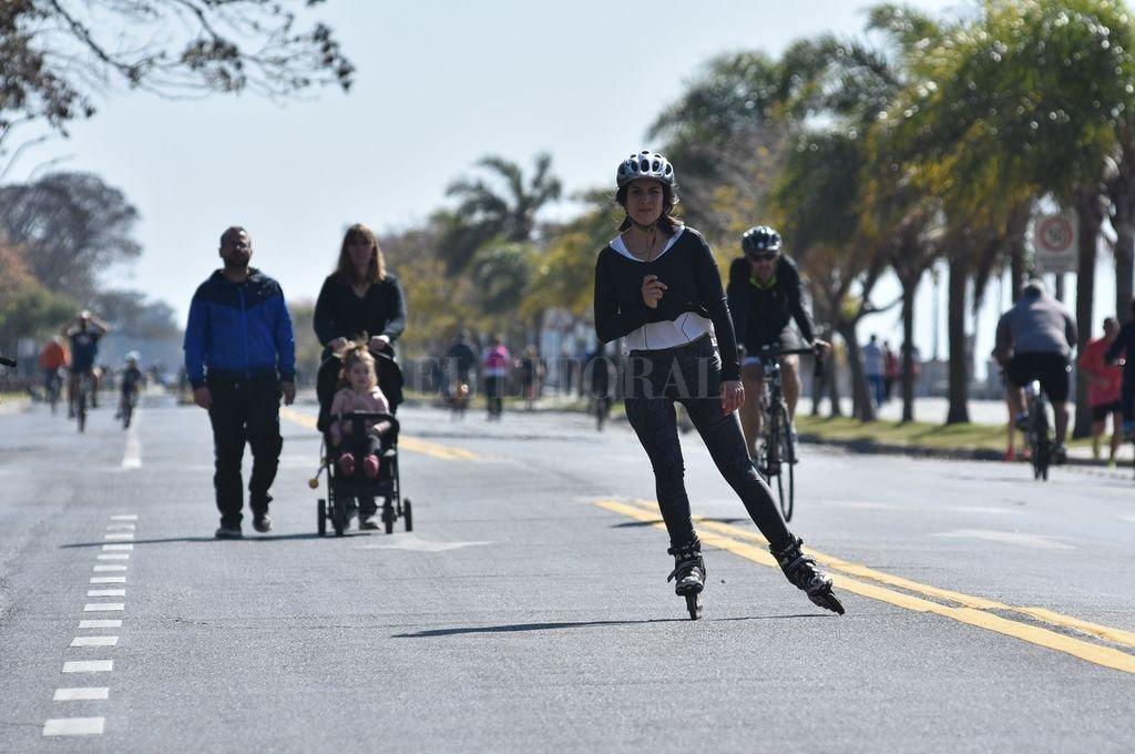 """""""Queremos una ciudad con más peatones, más bicis y más transporte público, dejando así un poco el auto para la menor cantidad de viajes"""", destacó el intendente. <strong>Foto:</strong> Mauricio Garín"""