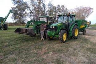 Se robaron un tractor y se lo llevaron andando