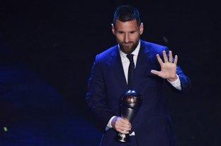 Lionel Messi recibió el premio The Best al mejor jugador del año