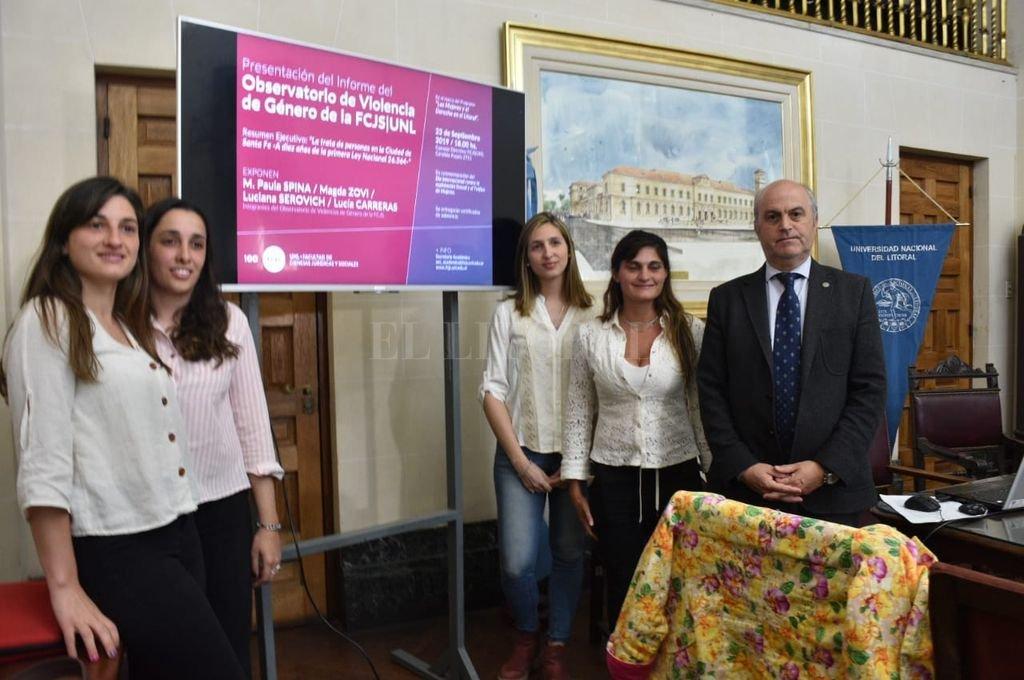 Detalles del informe fueron presentados en el Consejo Directivo de la Facultad de Ciencias Jurídicas y sociales de la UNL. <strong>Foto:</strong> Manuel Fabatía