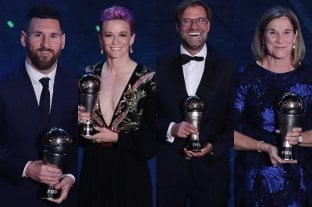 Todos los ganadores de los premios The Best 2019